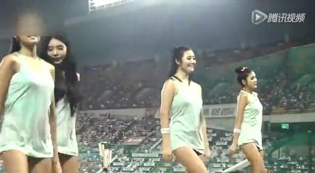 韩国棒球啦啦队超短裙热舞