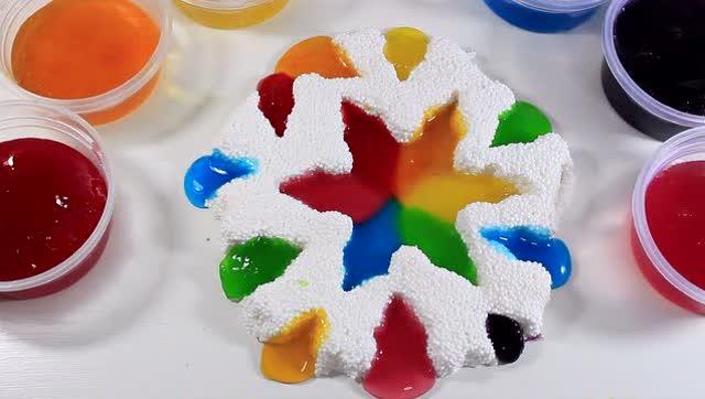 亲子手工制作之多彩水晶糖果甜甜圈