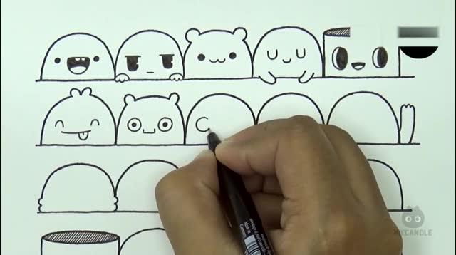 30种简单又可爱的表情画法第二部分来了
