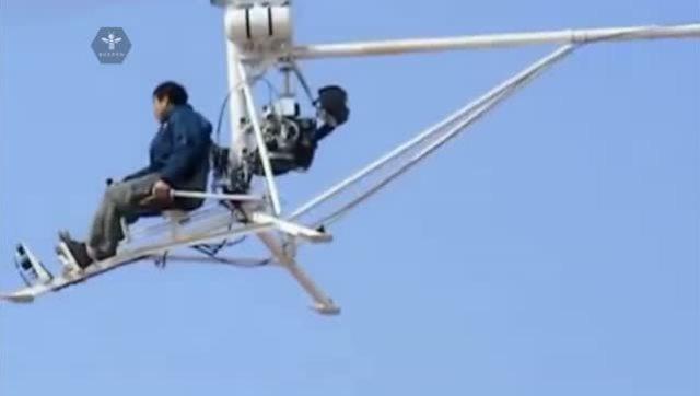 国产农民发明了直升机,飞的还不错呢