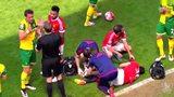 曼联伤病噩梦延续赛季末 达米安受伤下场曼联争四蒙阴影图标