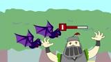 部落冲突皇室战争动画超级骑士怕蝙蝠