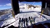 视频:腿软!陡峭雪山刺激滑雪 看高手怎么玩