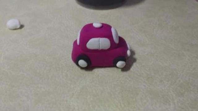 手工制作橡皮泥小玩意:小汽车