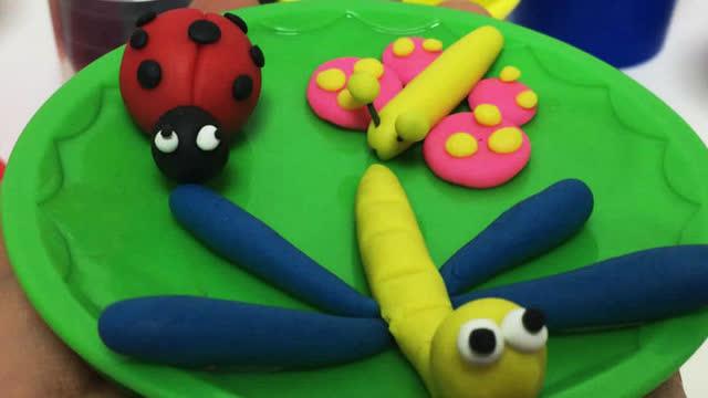 玩具视频 橡皮泥手工制作霸气小龙 亲子游戏