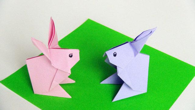 小爱的折纸 大耳朵的小兔子