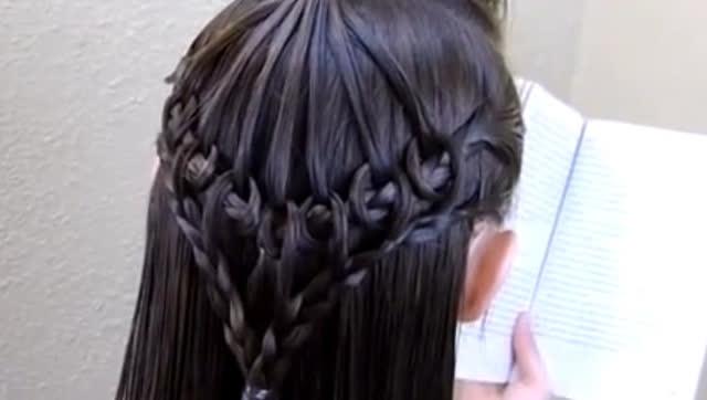 一款优雅小公主发型编发教程