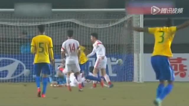 【集锦】四国赛:国奥1-2巴西获亚军 廖力生替补造点截图