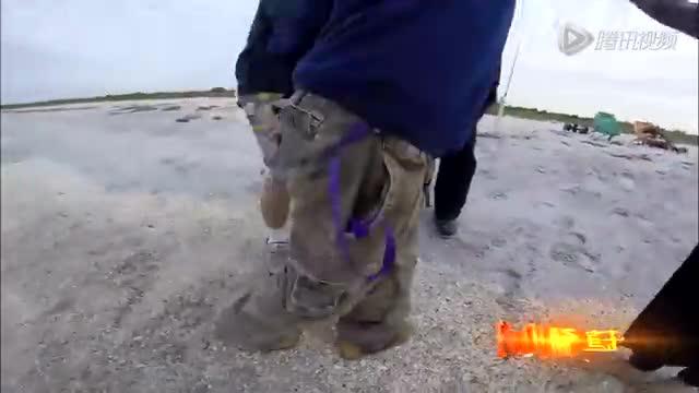 美国一渔夫善心救搁浅小鲨鱼反被咬伤脚踝截图