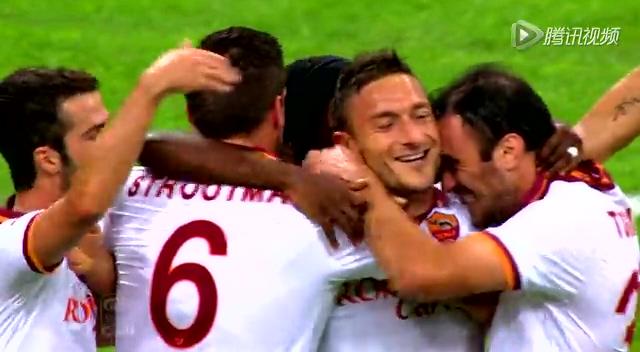 全场集锦:托蒂梅开二度 十人罗马客场3-0完胜国米截图