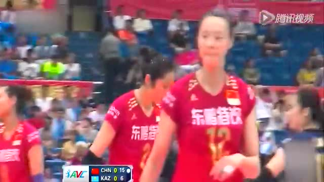 亚锦赛:中国女排3-0哈萨克斯坦 半决赛PK泰国截图