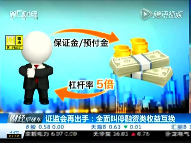 期货公司介入配资利益链:证监会叫停融资类收益互换 规模约千亿