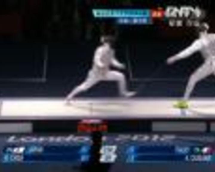 视频:男子花剑团体决赛 意大利VS日本第3局