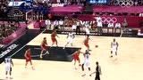 视频:詹姆斯玩转扣篮空接 力助梦十男篮卫冕