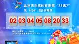 """北京市电脑体育彩票""""33选7""""第14081期开奖结果"""