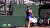 法网资格赛第二轮 斯密特科娃VS沃特森 第一盘