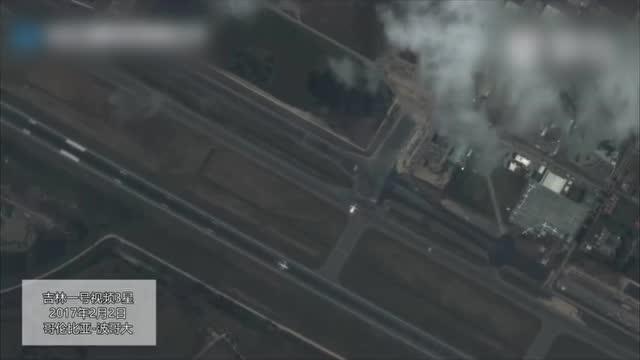 火眼金睛! 中国卫星拍摄到国外机场飞机起飞.