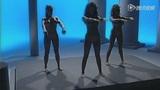 三美女全裸体操悠闲自得 完美身材遐想无限