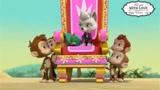 汪汪队  甜甜跟戴王冠的猴子争做女王的位置