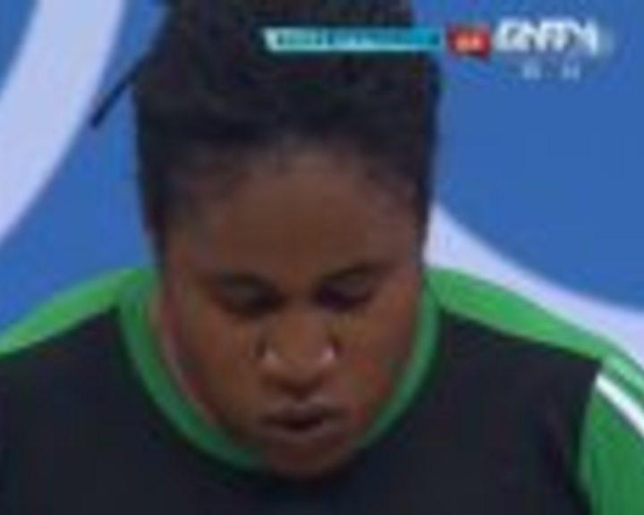 视频:女举75kg以上挺举 乌斯曼2举160kg失败