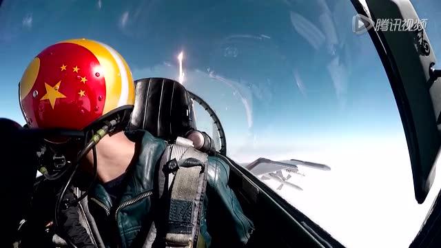 """实拍空军""""金头盔""""飞行训练截图"""