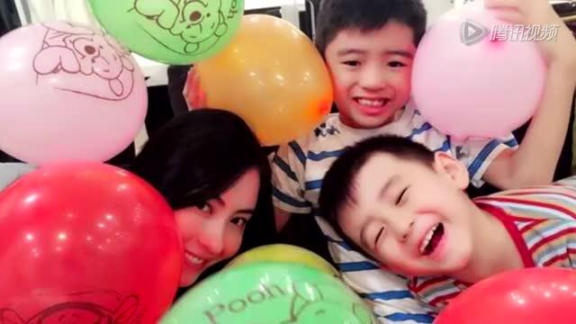 两子为张柏芝庆35岁生日 左右夹击甜蜜献吻截图