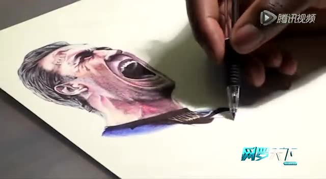 国外牛人耗时9小时 用圆珠笔画出热刺球星凯恩截图