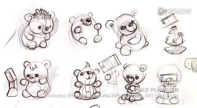 熊二简笔画步骤图解