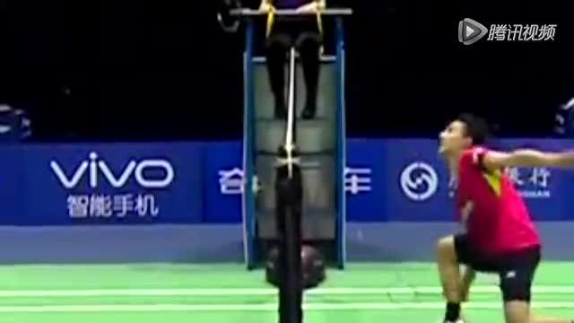 慢镜回放日本男单争议判罚:球触网 拍子未触网截图