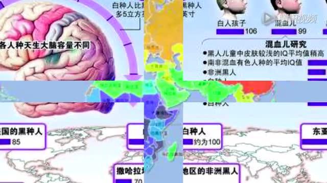 全球智商分布图:中国、日本、朝鲜智商最高截图