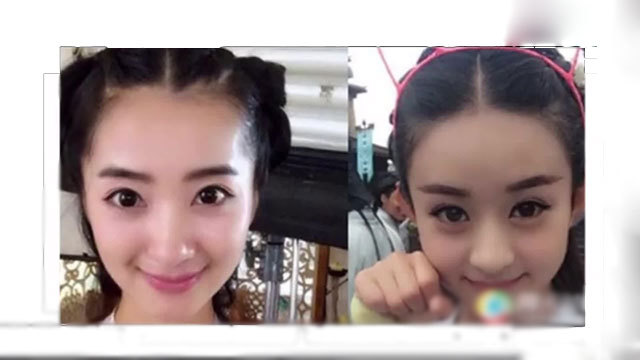 赵丽颖和张娜拉很像_好多人都说赵丽颖张娜拉长得很像韩国人也这