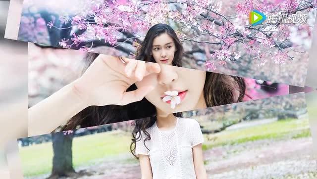 杨颖樱花卡通图片