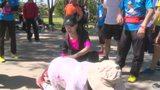 视频:全民健身!腾讯跑步训练营掀萌娃大战