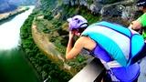 疯心少年团无保护吊桥跳伞 最高处俯视真心吓尿了