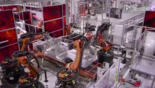 制造水平高超 特斯拉工厂生产线展示