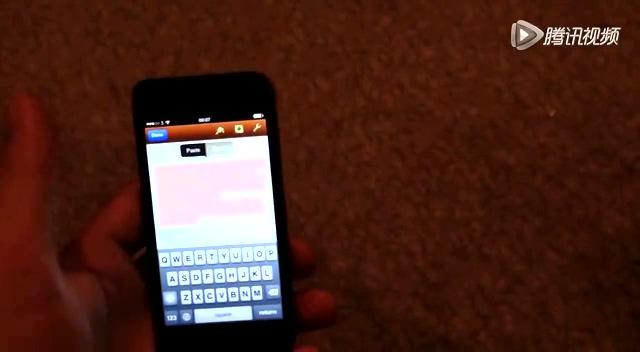 iPhone也学会蓝屏了截图