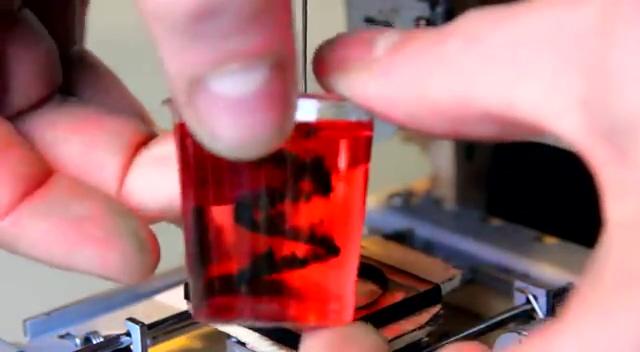 用光驱改造的3D打印机截图