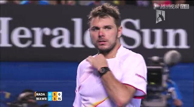 视频:澳网男单决赛 纳达尔VS瓦林卡第3盘