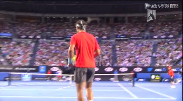视频:澳网男单决赛 纳达尔VS瓦林卡第2盘