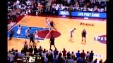 视频:基德篮网十佳球 半场压哨1打3背抛中的