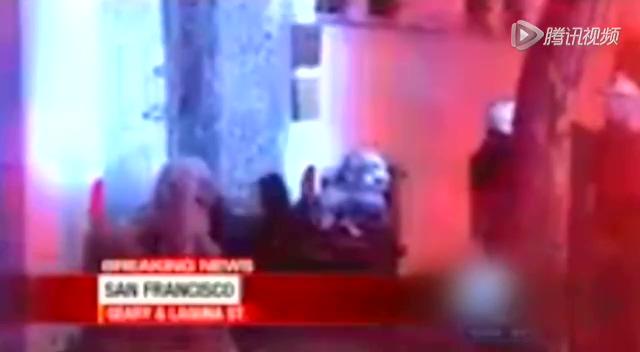 中国驻旧金山总领馆遭纵火 正门严重损毁截图