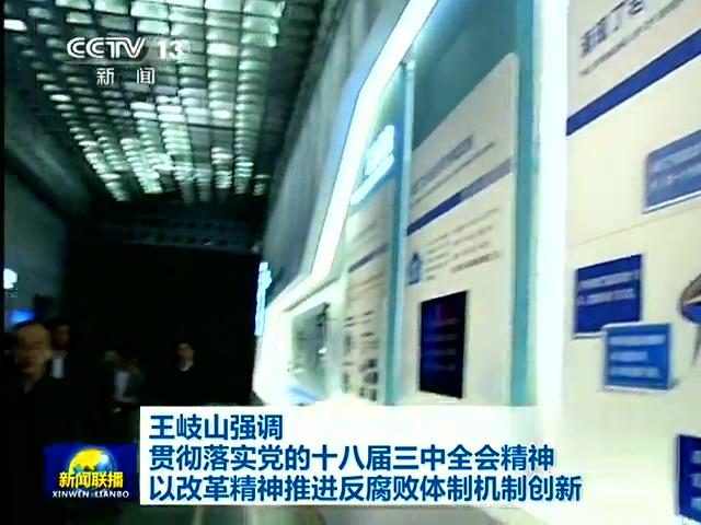 王岐山:以改革精神推进反腐败体制机制创新截图