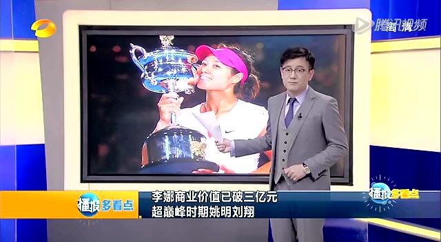 李娜商业价值已破三亿元  超巅峰时期姚明刘翔截图