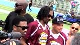 视频:巴恩斯组慈善橄榄球赛 格里芬嚣张达阵