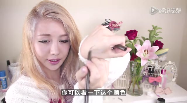 超流行韩式一字眉画法教学