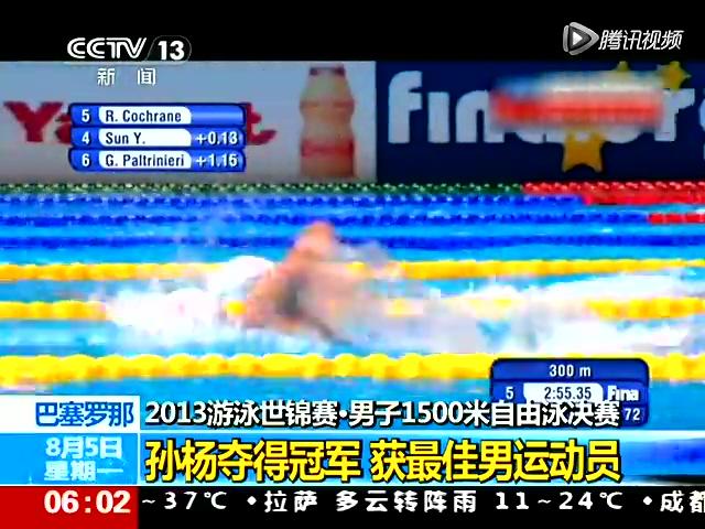 1500自孙杨逆转卫冕 获最佳男运动员截图