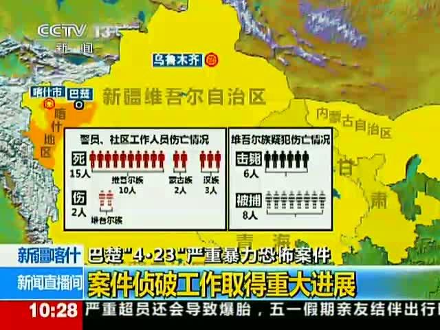 央视公布新疆4.23严重暴力恐怖案件牺牲烈士名单截图