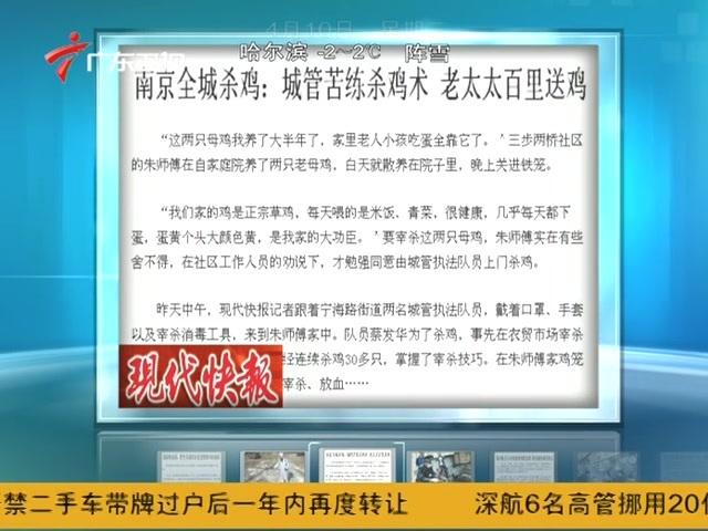 南京全城杀鸡城管苦练杀鸡术 老太太百里送鸡截图