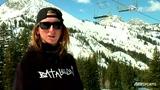 横行雪山单板滑雪绝技教学 运动系美女亲自示范