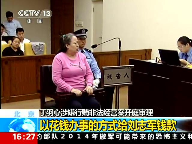 丁书苗当庭表示为刘志军职务调整疏通关系截图